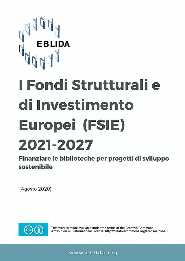 The European Structural and Investment Funds 2021-2027: Funding Opportunities for Libraries