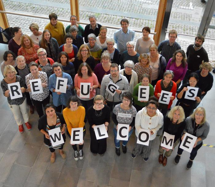 """Refugees are welcome to Linköpings stadsbibliotek"""