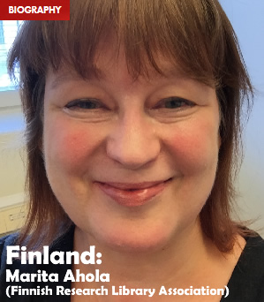 Finland: Marita Ahola (Finnish Research Library Association)