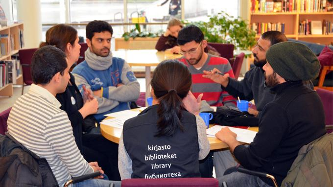 Opi suomea: language café for refugees