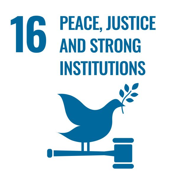 SDG 16 Peace, justice and strong institutions