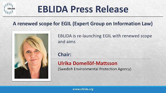 Press release: A renewed scope for EGIL (Expert Group on Information Law)
