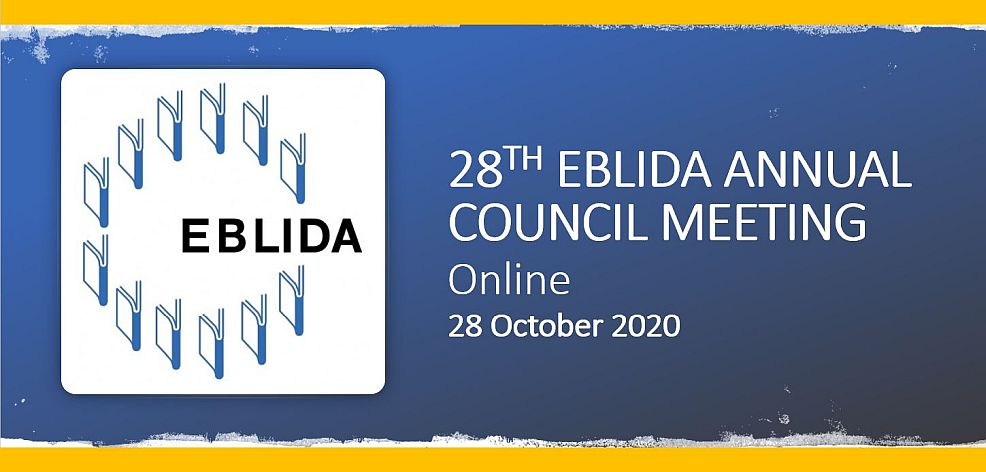 EBLIDA Annual Council Meeting 28 October 2020
