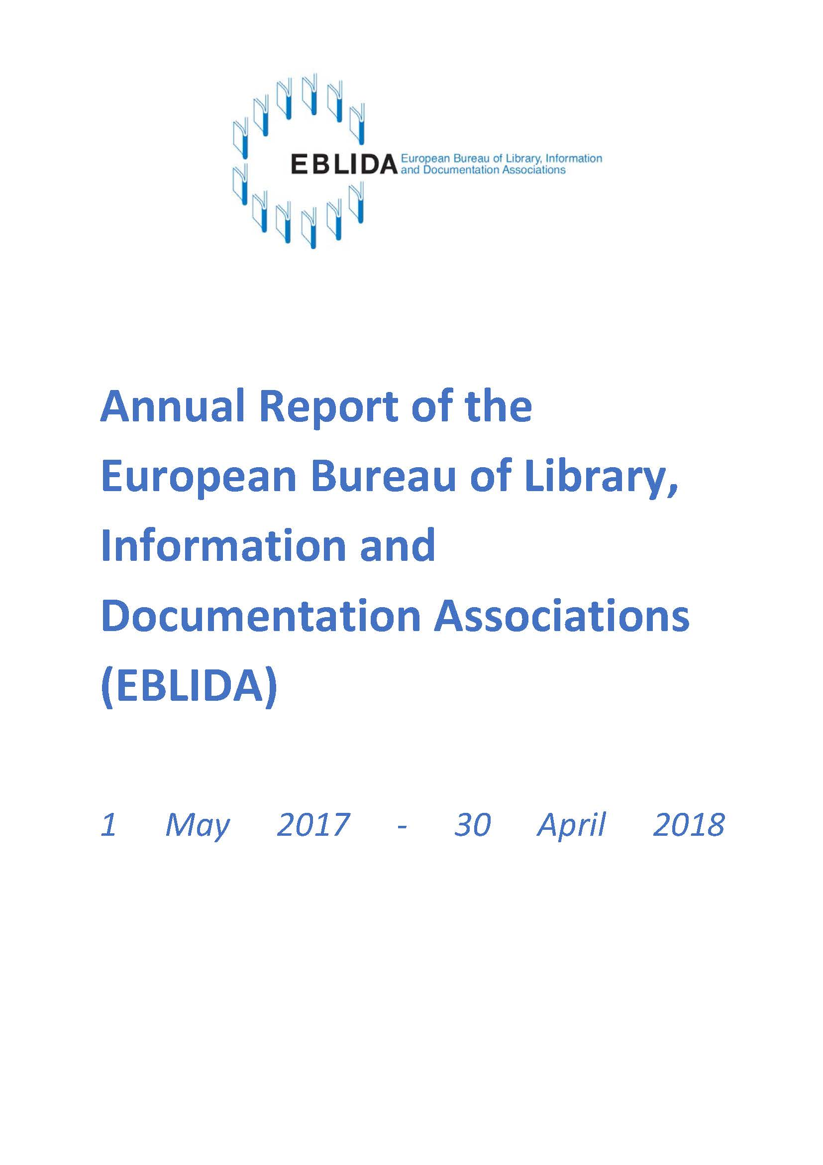 EBLIDA Annual Report 2017-2018