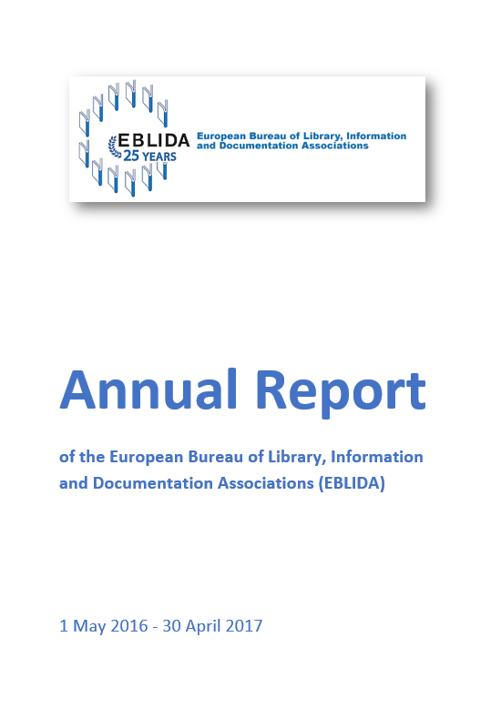 EBLIDA Annual Report 2015 - 2016